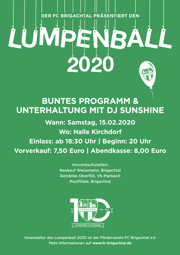 Lumpenball 2020 (Plakat)
